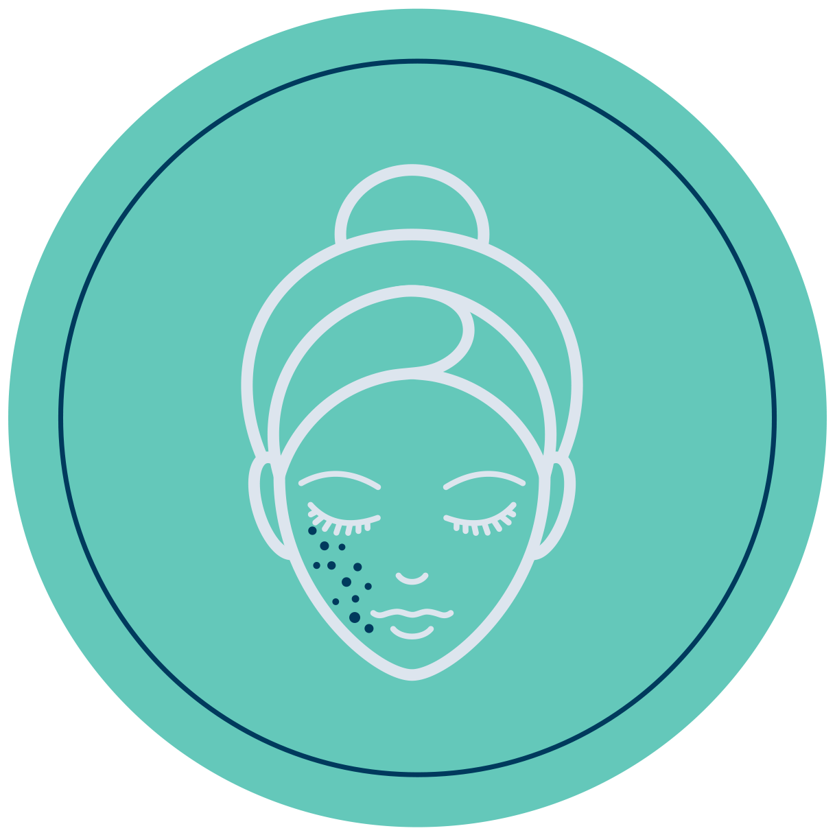 Woman face icon - Venusian CO2 carboxytherapy dermatology protocol